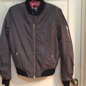 BD Dakota grey bomber jacket sz small